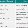 word scramble activity image