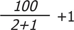 Hare-Clark Quota formula 2