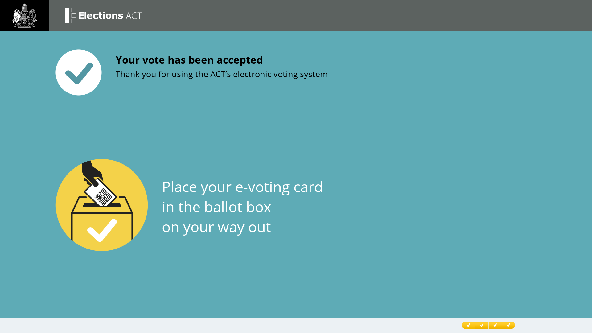 e-voting accepted screen