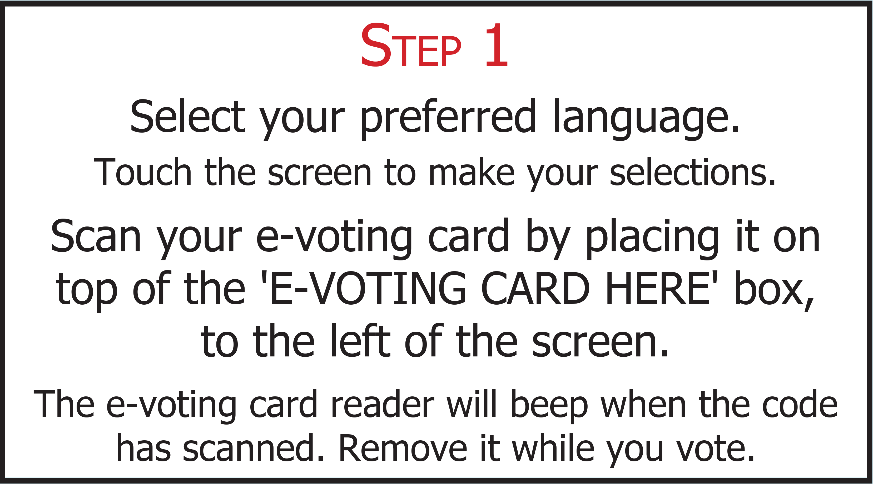 e-voting step 1